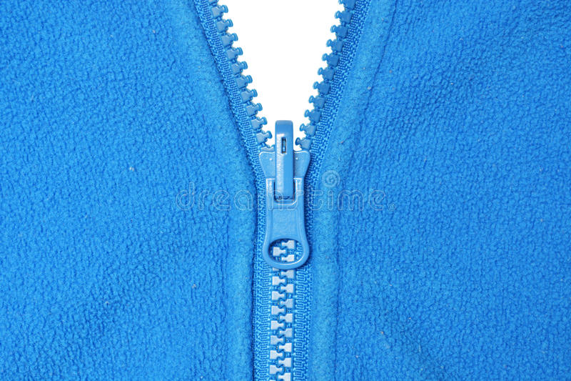 Ouatine et tirette bleue photo stock