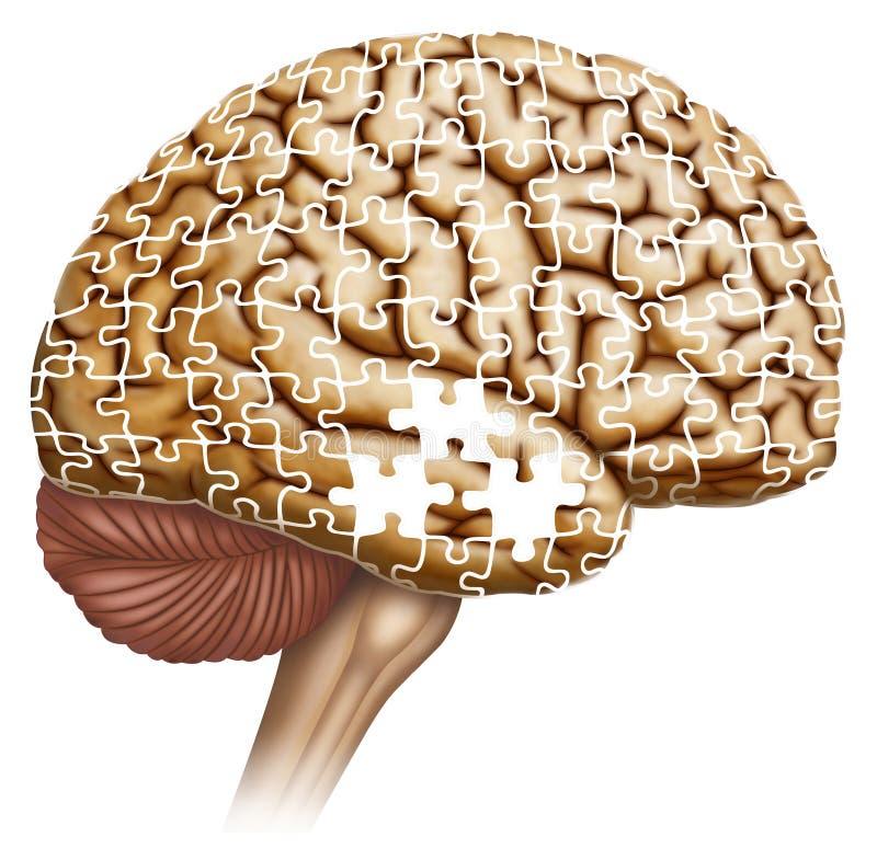 Oublie de la maladie du ` s d'Alzheimer illustration de vecteur