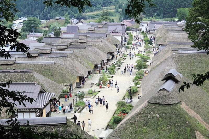 Ouchi Juku στην Ιαπωνία στοκ εικόνες