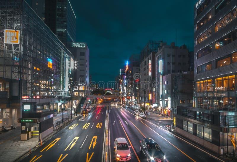 Ouchijuku es una ciudad de posts anterior a lo largo de la ruta comercial de Aizu-Nishi Kaido, que conectó Aizu fotografía de archivo libre de regalías