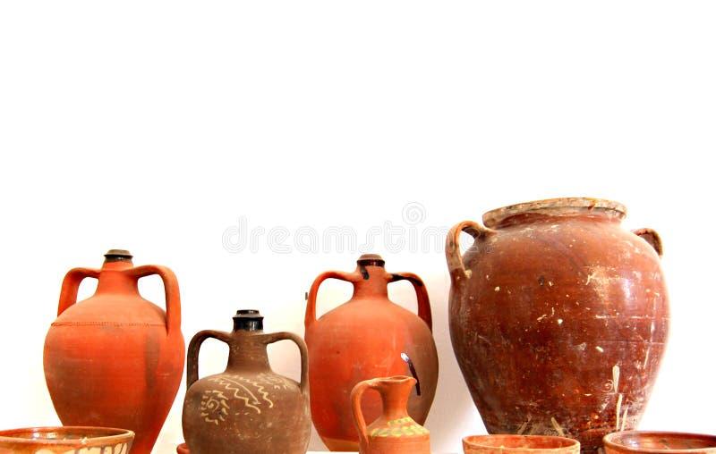 Oud aardewerk stock fotografie