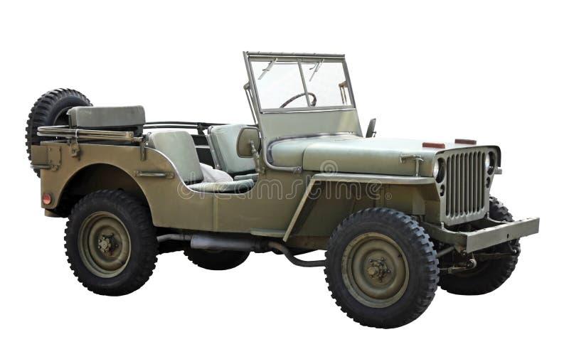 Oud Amerikaans militair voertuig royalty-vrije stock afbeeldingen