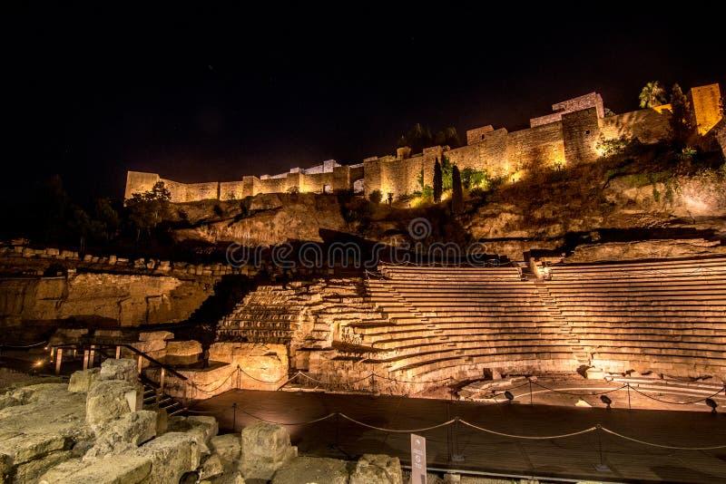 Oud amfitheater in Malaga stock fotografie
