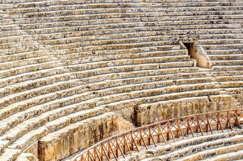 Oud amfitheater in oude Hierapolis, Pamukkale, Denizli-provincie stock afbeelding