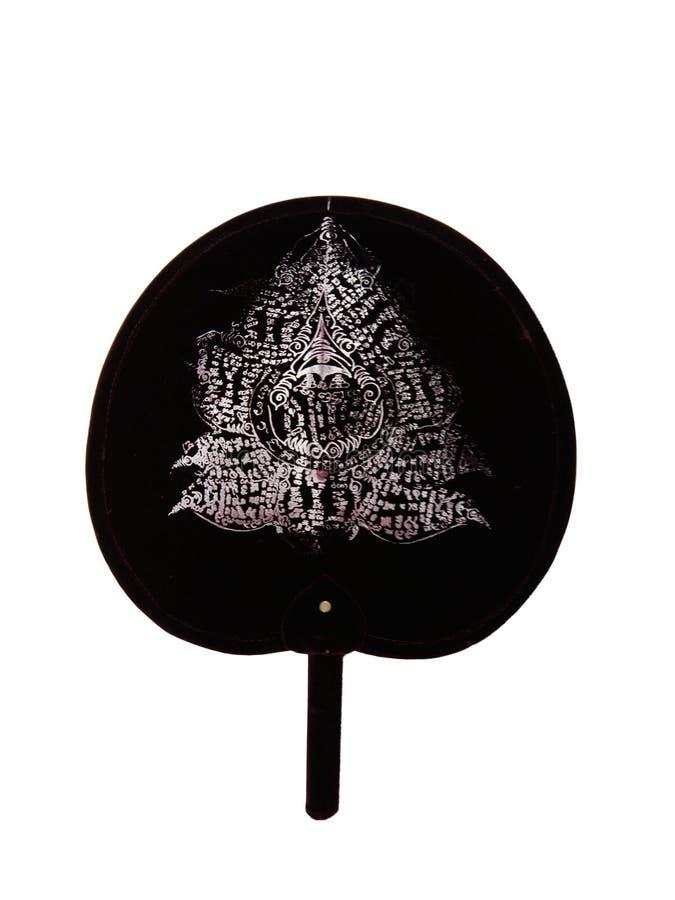 Oud Amuletkarakter op ventilator royalty-vrije stock foto