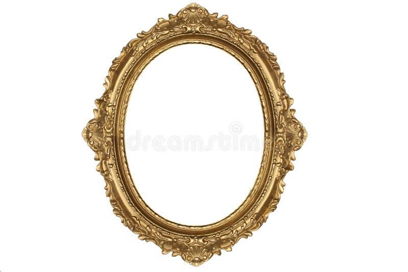 Oud antiek gouden frame stock foto's