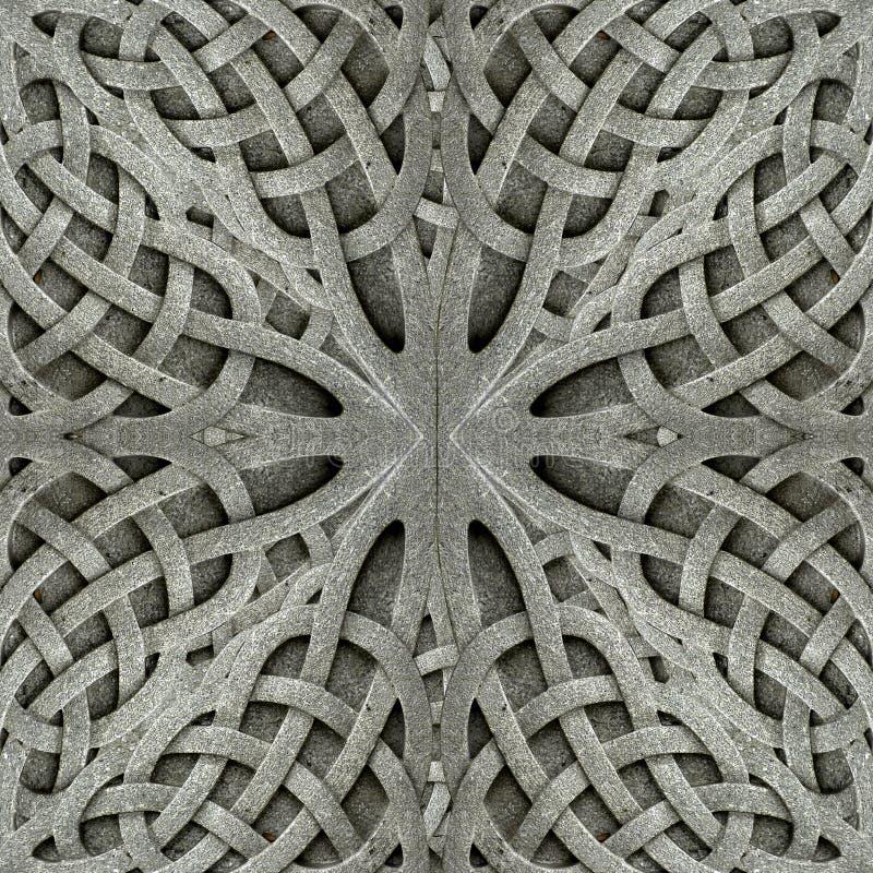 Oud Arabesque-Steenornament stock foto