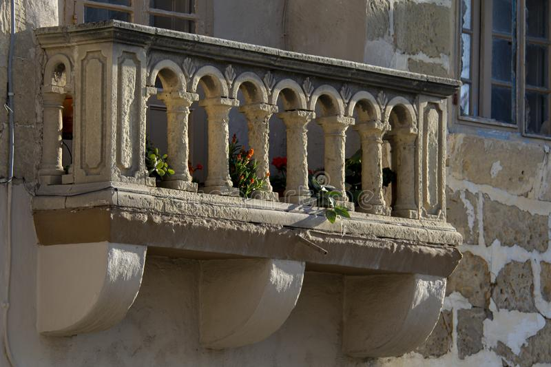 Oud balkon stock foto