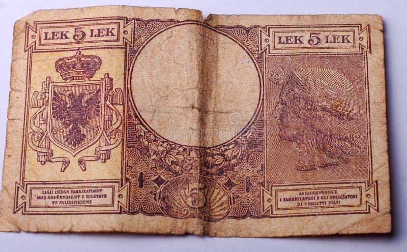 Oud Bankbiljet van Albanië royalty-vrije stock foto's
