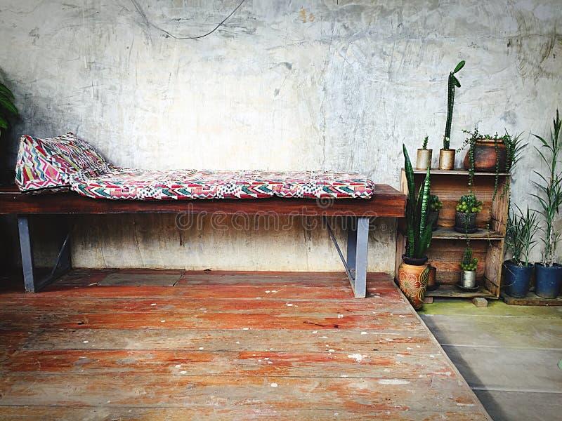Oud bed stock fotografie