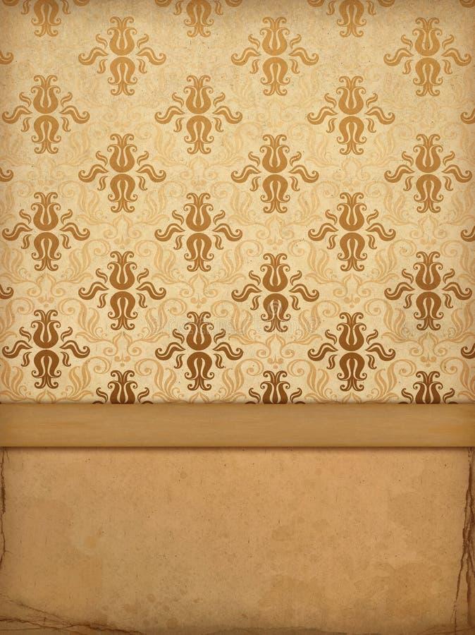 Oud behang vector illustratie