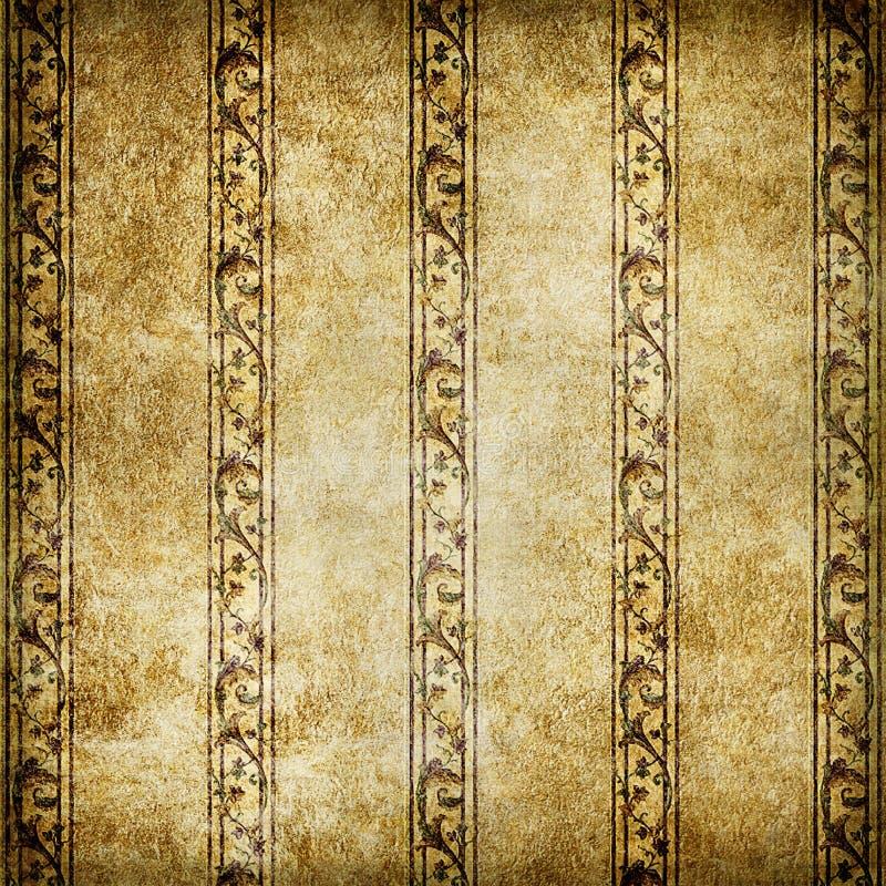 Oud behang royalty-vrije illustratie