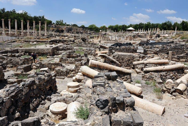 Oud Beit Shean - Israël royalty-vrije stock foto