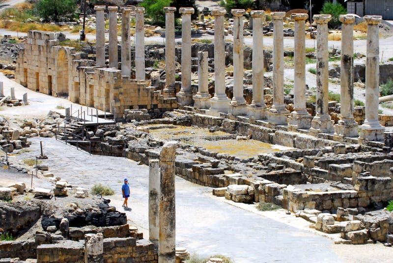 Oud Beit Shean - Israël stock afbeelding