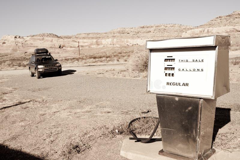 Oud benzinestation royalty-vrije stock foto