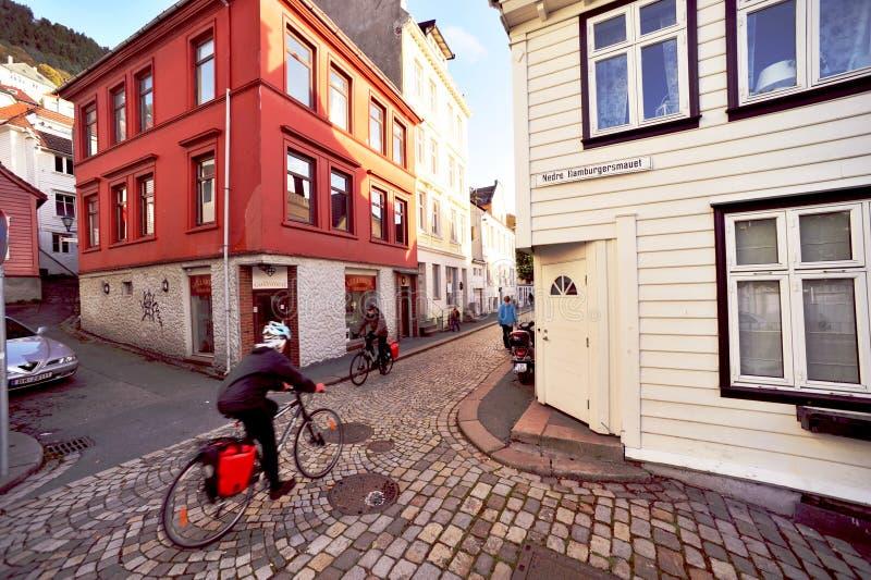 Oud Bergen stock fotografie
