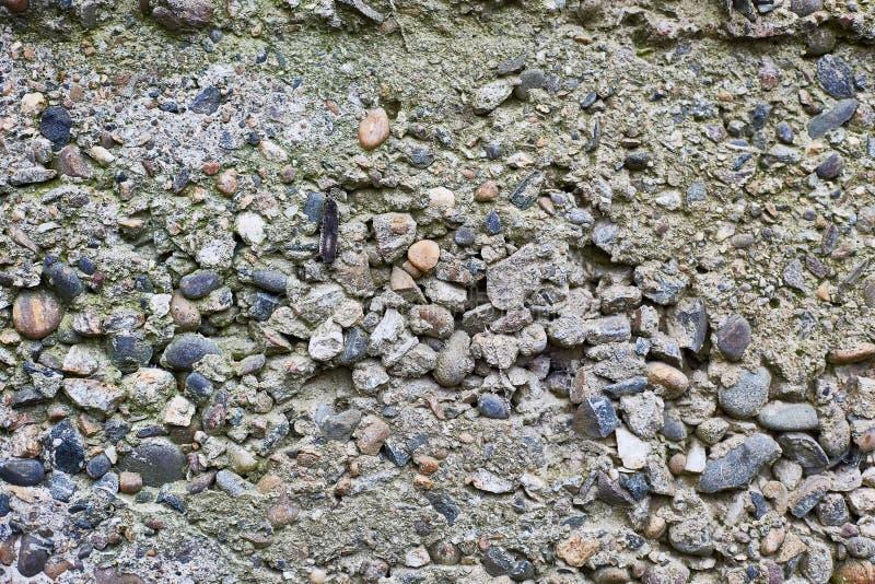 Oud beton van grote stenen De horizontale achtergrond van de steenmuur royalty-vrije stock afbeelding