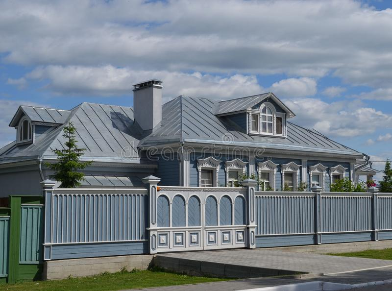 Oud blokhuis in Kolomna Rusland royalty-vrije stock afbeeldingen