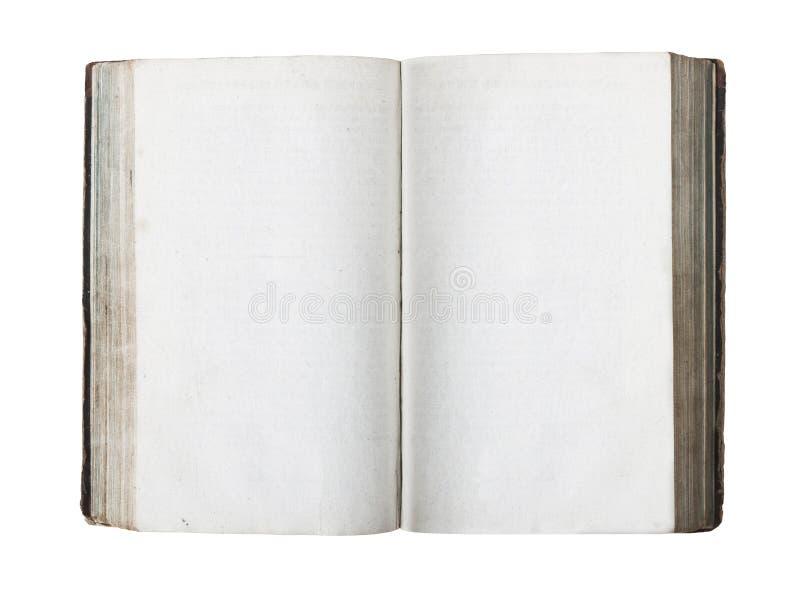 Oud boek met geïsoleerded blanco pagina's royalty-vrije stock fotografie
