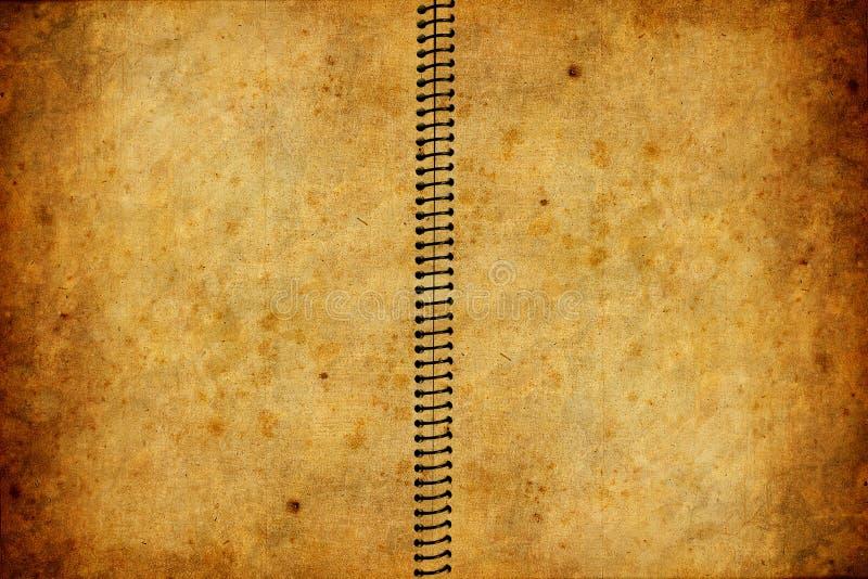 Oud boek met grungetextuur royalty-vrije illustratie