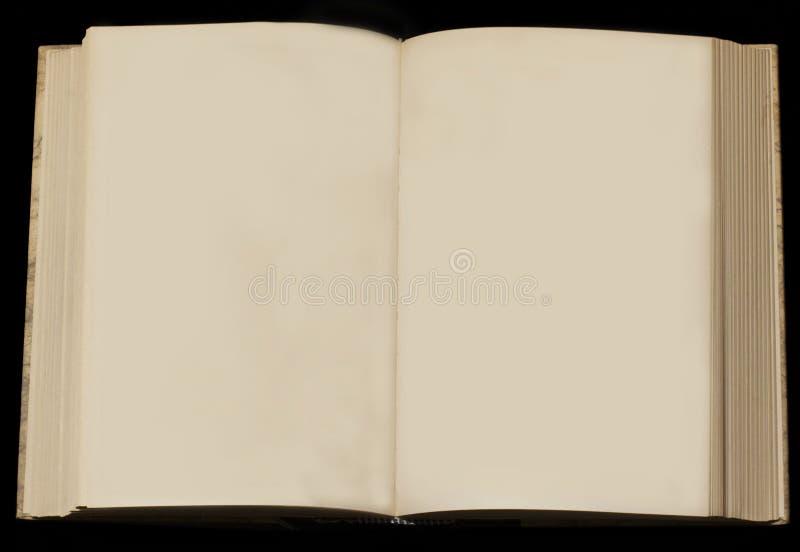 Oud boek met lege pagina's stock fotografie