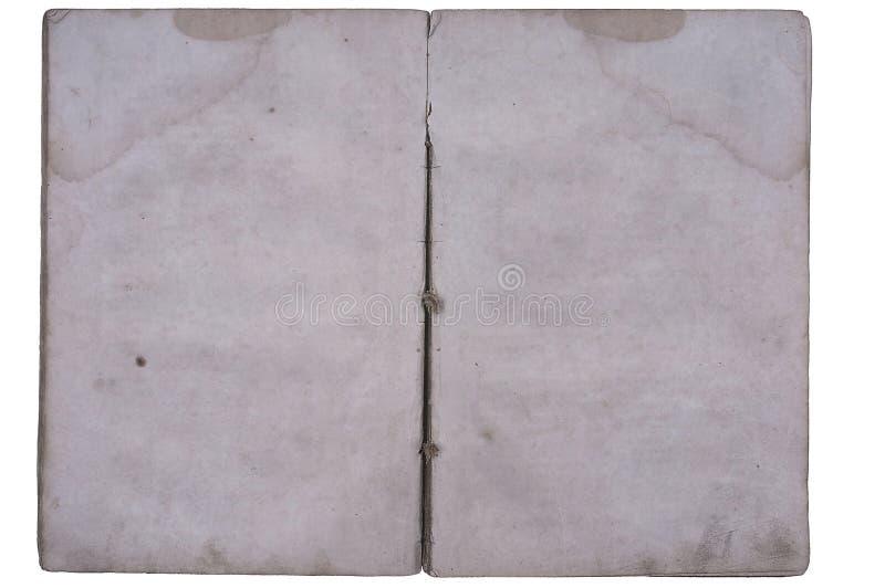 Oud boek open op beide blanco pagina's. royalty-vrije stock afbeelding