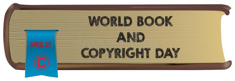 Oud boek - Wereldboek en Copyright vector illustratie