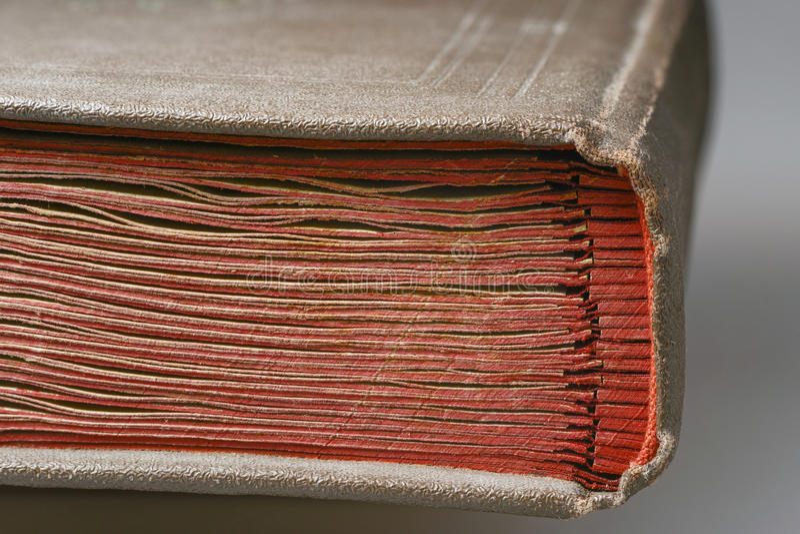 Oud boekfragment stock foto's