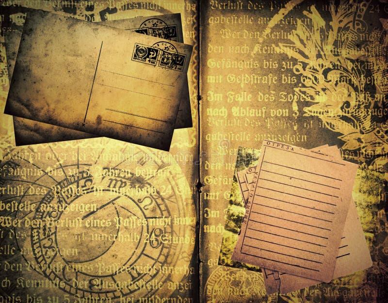 Oud boekmalplaatje royalty-vrije stock afbeelding