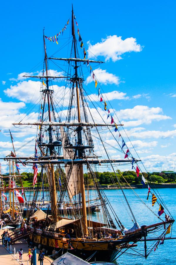 Oud Bootfestival bij de Oude Haven van Montreal stock afbeeldingen