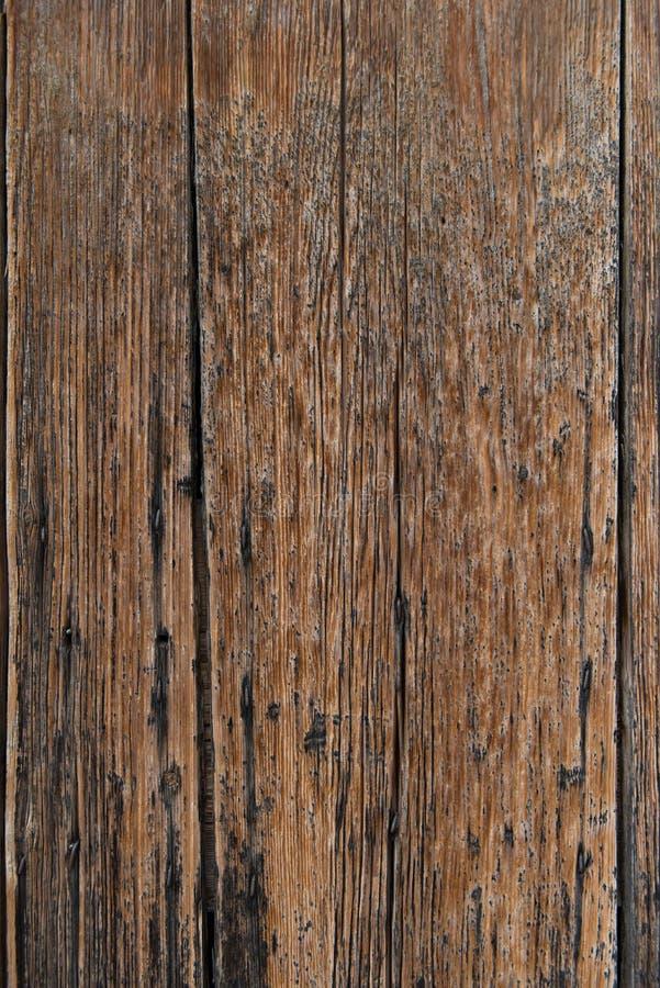 Oud bruin houten achtergrond of behang Verticaal beeld royalty-vrije stock afbeeldingen