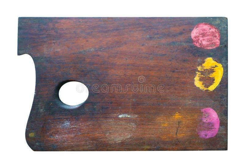 Oud bruin houten palet stock fotografie