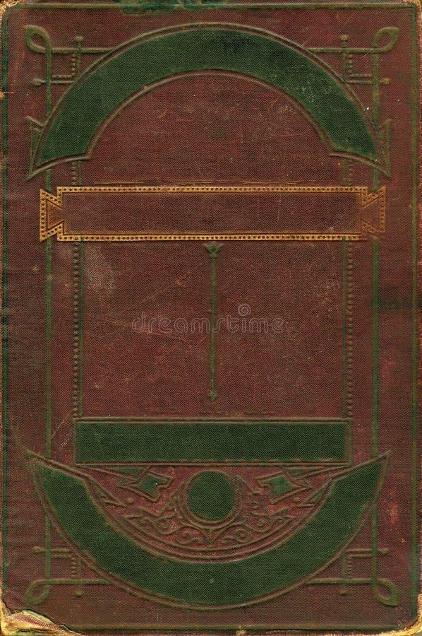Oud bruin leer decoratief frame royalty-vrije stock fotografie