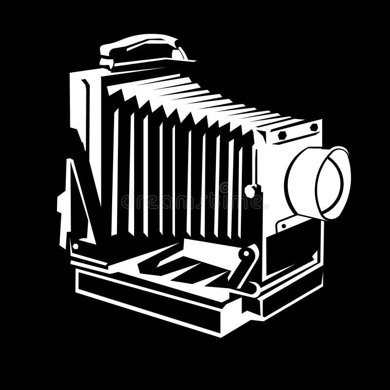 Oud cameraembleem stock illustratie