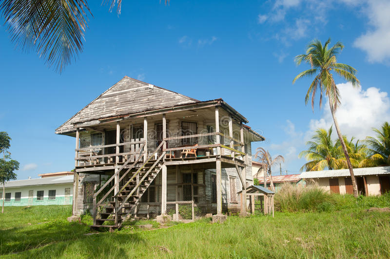Oud Caraïbisch blokhuis. stock foto's