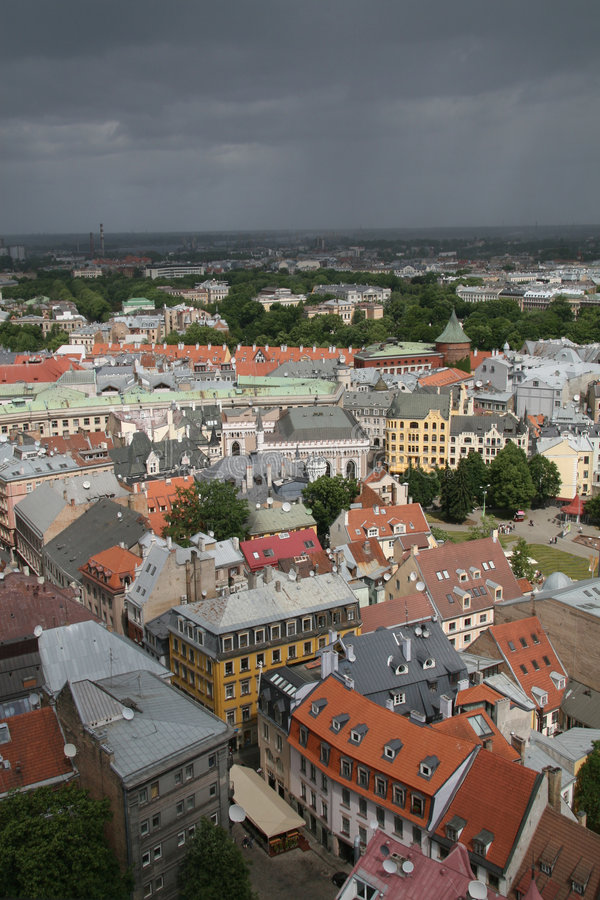 Oud centrum van Riga, Letland royalty-vrije stock foto