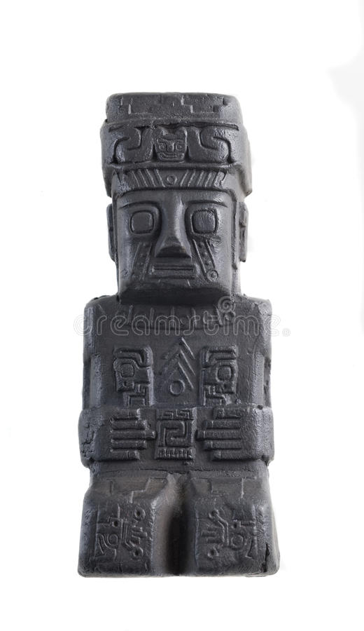 Oud ceramisch standbeeld van Zuid-Amerika. royalty-vrije stock afbeelding