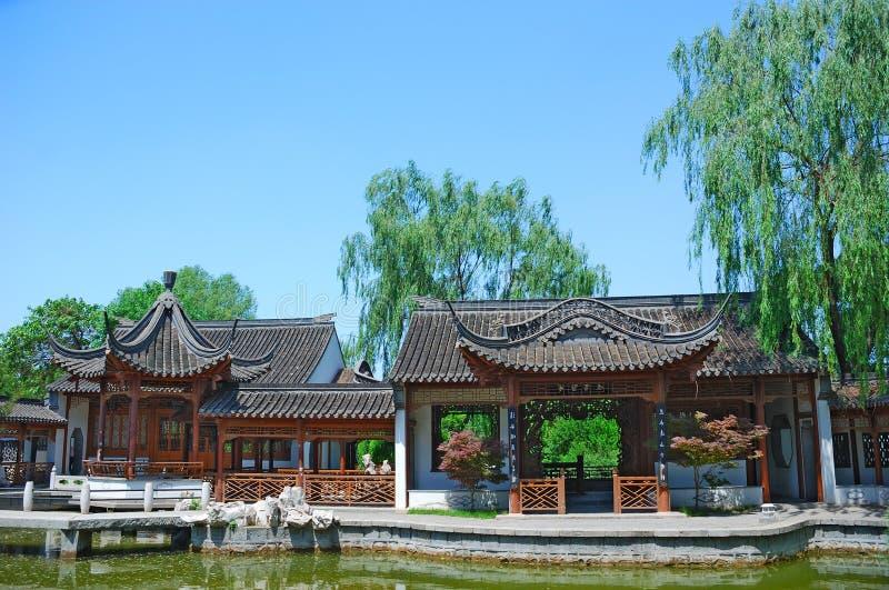 Oud Chinees huis stock afbeelding