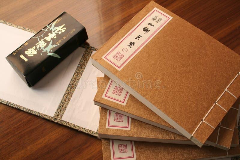 Oud Chinees stijlboek stock foto's