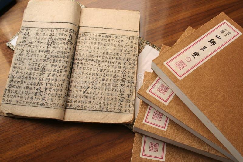 oud Chinees stijlboek royalty-vrije stock fotografie