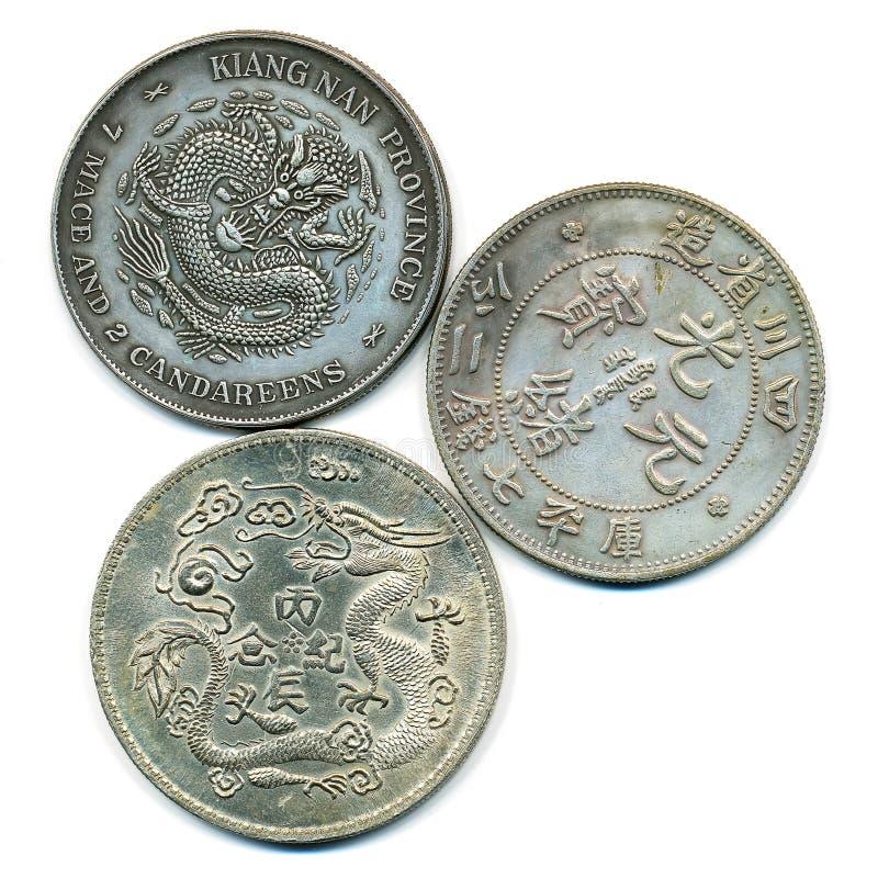 Oud Chinees Zilver Stock Fotografie