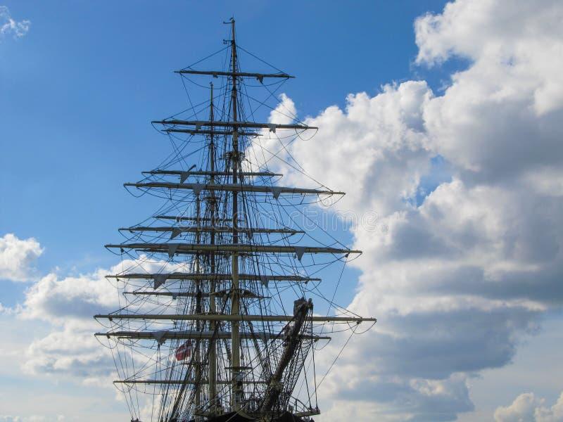 Oud Clipper van Stijl Uitstekend Drie Masten Schip stock fotografie
