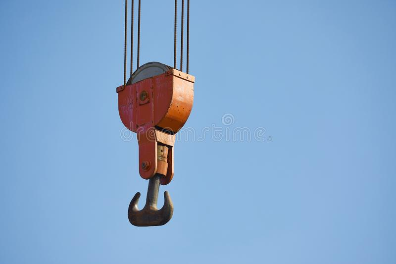 Oud Crane Hooks royalty-vrije stock fotografie