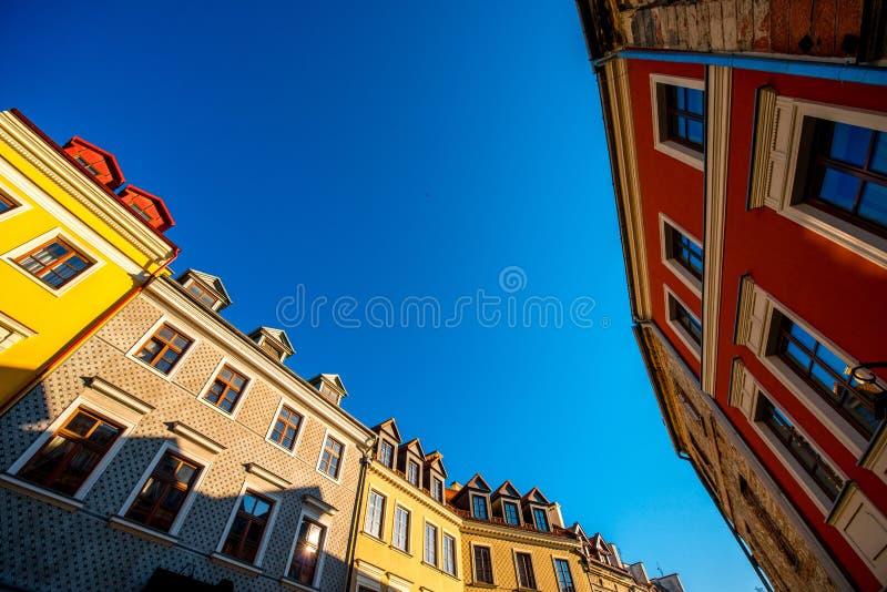 Oud de stadscentrum van Lublin stock fotografie