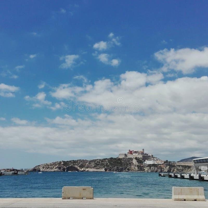 Oud de stadsdeel van Ibiza royalty-vrije stock afbeeldingen