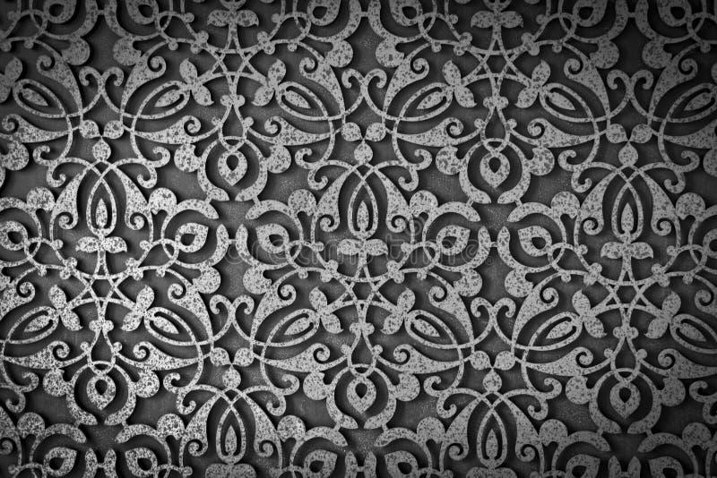 Oud de textuurpatroon van het grungemetaal stock foto's