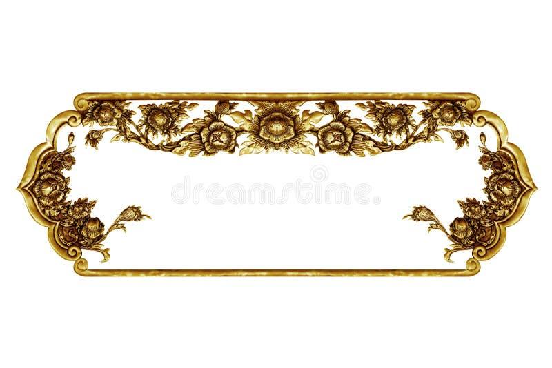 Oud decoratief die kader op wit wordt geïsoleerd royalty-vrije stock afbeeldingen