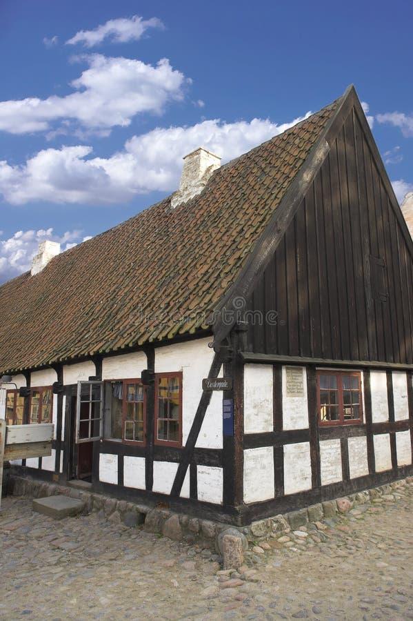Oud Deens huis stock afbeelding