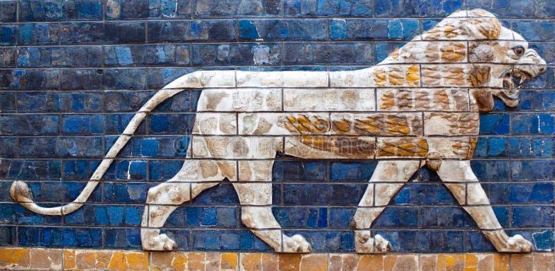 Oud detail van de Piek van Babylonian Ishtar stock afbeelding