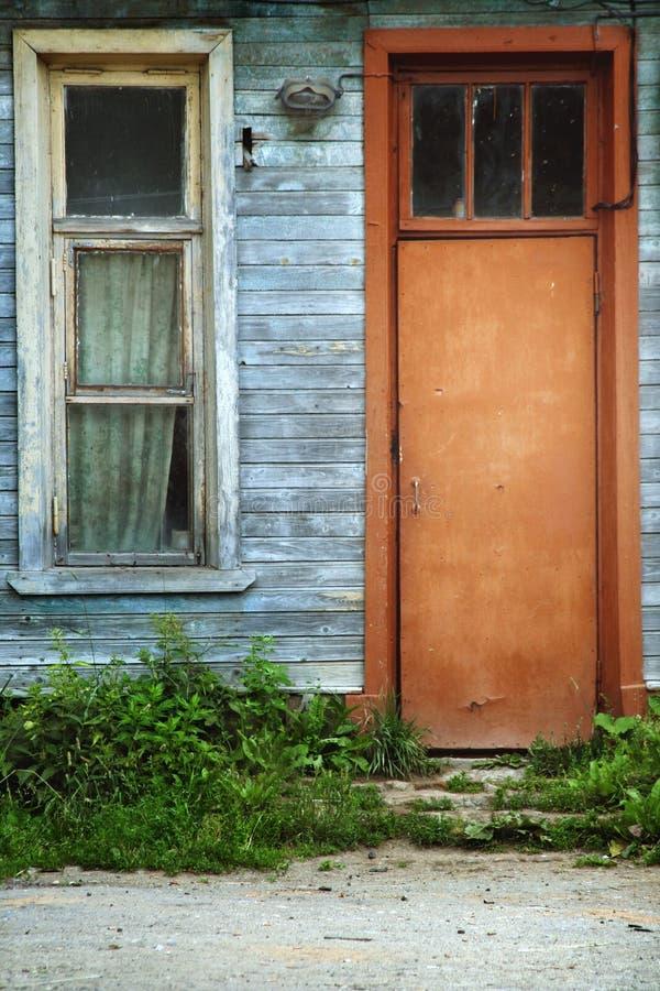 Oud deur en venster royalty-vrije stock fotografie